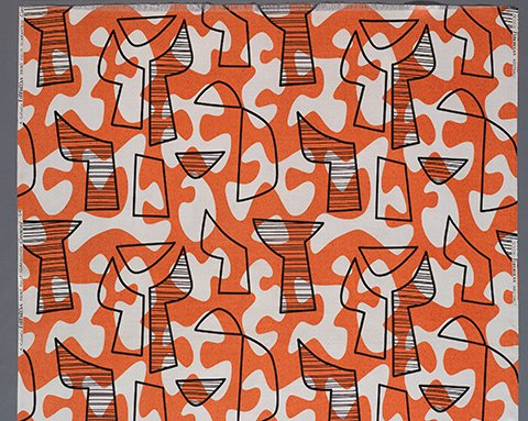 "Owens-Corning for Co-FabCo ""Abstract Fiberglas"" furnishing textile, 1950 - 1954"