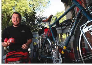In August, Joshua Sutherland cycled to native reserves in Western Canada to promote higher education