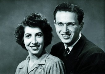 Ed and Florence Gross, after one month of marriage, 1943