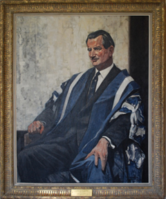 Portrait of Claude Bissell at Simcoe Hall