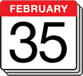 February with 35 days?