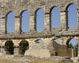 Roman ruins in Pula, Croatia. Photo by Elaine Smith