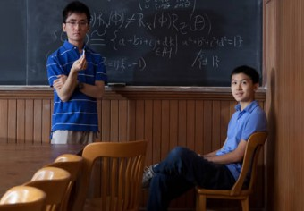 Math students Keith Ng (left) and Jonathan Zung will represent U of T at the prestigious Putnam Math Competition this year (along with Alexander Remorov).