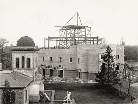 Convocation Hall under construction