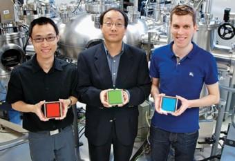From left: Zhibin Wang, Prof. Zheng-Hong Lu and Michael Helander