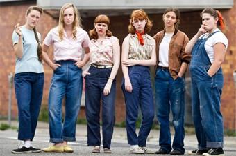 Madeleine Bisson (third from left) in Foxfire