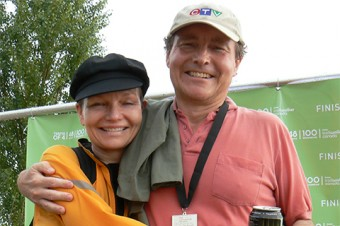 Randy Pepper with his sister Leanne at the 2009 Oxfam Canada Trailwalker. Photography by MaryAnn Jansen