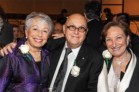Anne Golden (left), Charles Pachter and Rosalie Abella