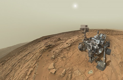The Curiosity Rover asking questions on Mars. Credit: NASA