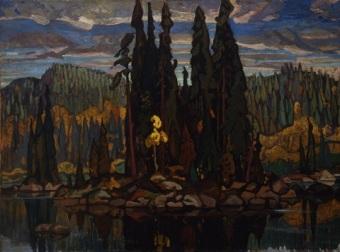 Painting by Arthur Lismer
