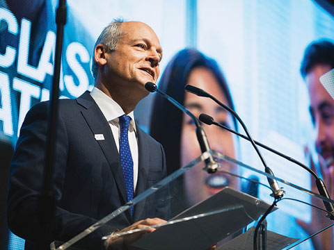 "Ryan Emberley ""With its pioneering spirit and innovative approach, the Ted Rogers Centre for Heart Research will be a world-class collaboration and a most fitting tribute to its namesake,"" said Meric Gertler, president of U of T, at the centre's launch on November 20"