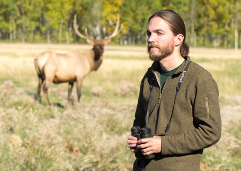 Jake Paleczny at the Yukon Wildlife Preserve, near Whitehorse.