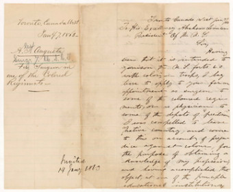Jan 7, 1863: Letter from Dr. Augusta to President Lincoln. Photo: National Library of Medicine