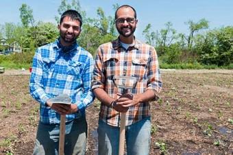 KarmaGrow co-founders Gagan Singh Batth and Jaskaran Singh Sandhu (right). Photo: Joe Ticar
