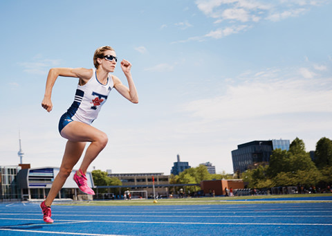 U of T alumna Sasha Gollish hopes to race for Canada in the Pan Am Games in July. Photo by Sandy Nicholson.
