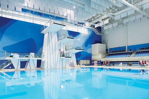 The Toronto Pan Am Sports Centre includes two Olympic-sized pools and a diving tank. Photo by Sandy Nicholson.