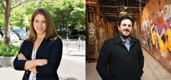 U of T's new urban advisers, Shauna Brail (left) and John Brodhead. Photos by Johnny Guatto and David Cooper?Toronto Star.
