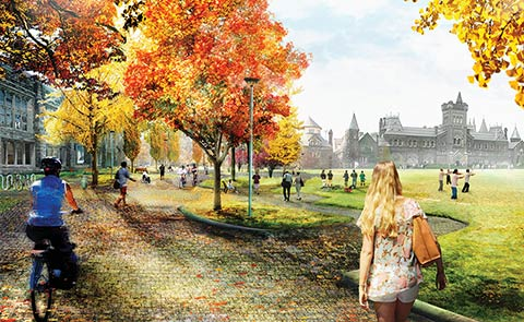 Artistic rendering of front campus