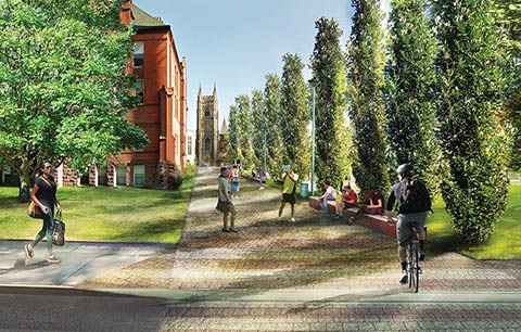 Artistic rendering of Tower Road