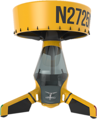 A rendering of the Airvinci One personal drone, capable of carrying up to 118 kilograms.
