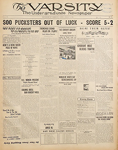 Image of the front page of an old issue of the Varsity