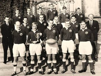 Photo of U of T's 1961 senior rugger champions