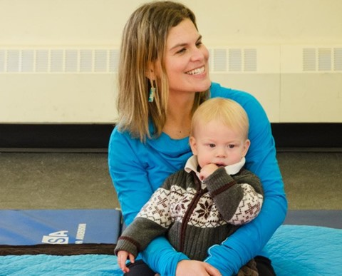 Mary Elizabeth Picher, co-founder of Wholeplay, with her son.