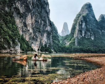 "Places/Things Winner: ""Fishing at Li River"" by Theodore Lo"