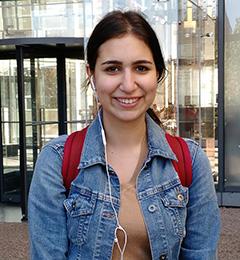 Photo of Salma Geissah outside Robarts Library
