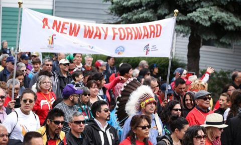 Walk for Reconciliation. Photo by Ben Powless.