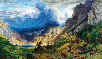Kent Monkman's painting, The Bears of Confederation