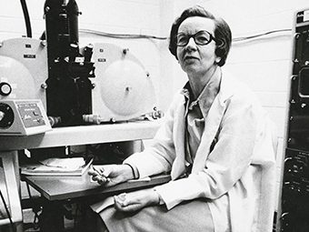 Ursula Franklin, at U of T, circa 1980. Photo: U of T Archives.