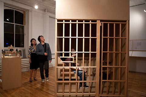 Meanwhile, Sumell's art installation raised awareness of the plight of prisoners serving years in solitary.
