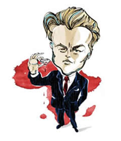 Illustration of Leonardo DiCaprio