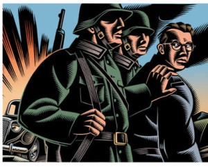 Illustration of soldiers