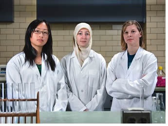 Female engineering students are more likely to choose environmental and biomedical disciplines because they believe advances in these fields have a direct impact on today's pressing issues