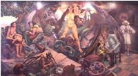 Mural by Chilean muralist Carmen Cereceda