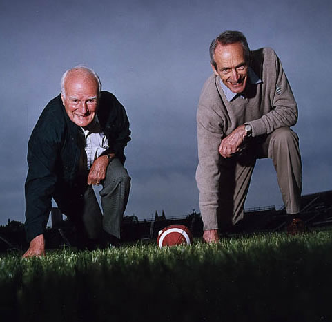 Fraser Mustard and John Evans at Varsity Stadium