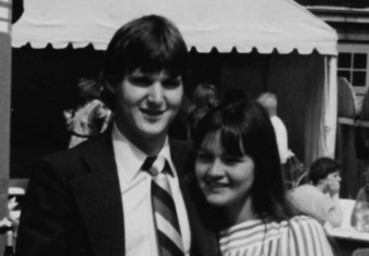 Greg Evans and Ronda Wabie at a family wedding in 1983