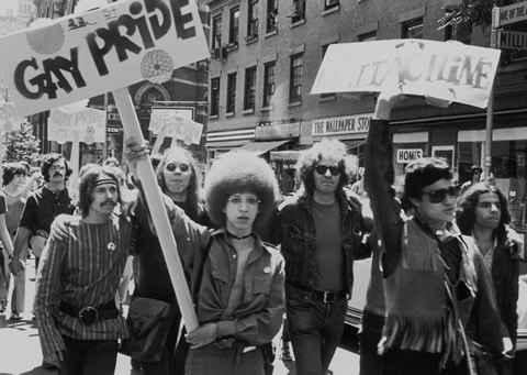 The beginning of the gay rights movement in North America: Christopher Street Liberation Day, New York City, June 28, 1970