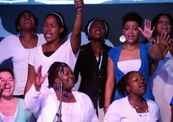 Photo of a gospel choir