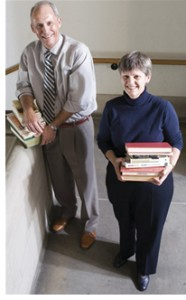 Jim and Verna Webb are co-treasurers of Trinity's Friends of the Library Committee