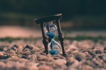 Photo of an hourglass