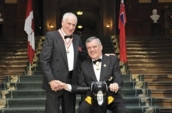 Peter Silverman receives the Order of Ontario from Lt.-Gov. David Onley in 2009