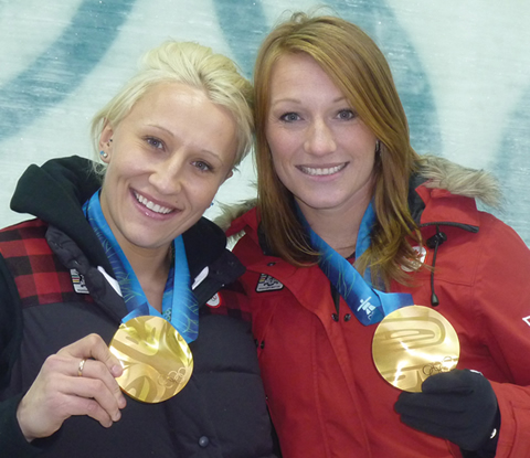 Heather Moyse and Kaillie Humphries.