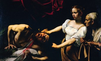 Photo of a Caravaggio painting