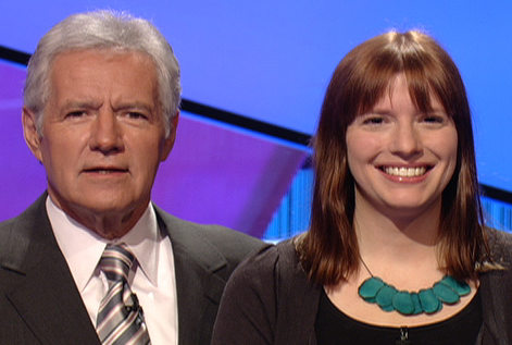 Photo of Trebek with Autumn Haag