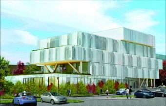 Architectural rendering of the Health Sciences Complex being built at U of T Mississauga
