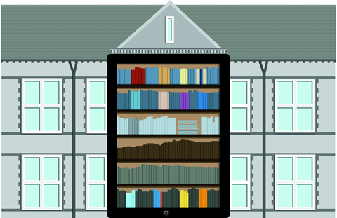 Illustration of a mobile library.