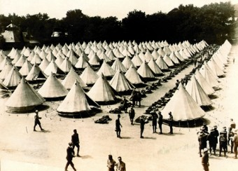 Photo of some of the tents used by the airmen-in-training